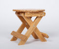 Wooden Stool Over White Royalty Free Stock Photo