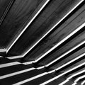 Wooden structure stricken by sunlight italy Royalty Free Stock Image