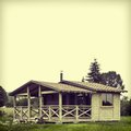 Wooden summer lodge Royalty Free Stock Photo