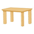 Wooden table isolated illustration on white background Stock Photo