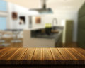 Wooden Table With Kitchen In B...