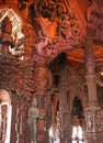 Wooden temple in Pattaya Royalty Free Stock Photo