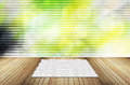 Wooden terrace abstract bokeh Royalty Free Stock Photos