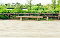 wooden deck wood outdoor patio backyard garden landscaping Royalty Free Stock Photo