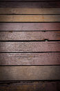 Wooden terrace floor old out door Royalty Free Stock Photography