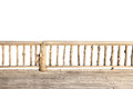 Wooden terrace isolated on white background with clipping path Stock Photography
