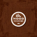 Wooden texture abstract background with typographic label vector illustration Royalty Free Stock Images
