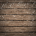 Wooden texture background in snow new year Royalty Free Stock Images