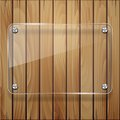 Wooden texture with glass framework vector illustration Royalty Free Stock Photos