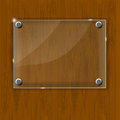 Wooden texture with glass framework vector illustration this is file of eps format Stock Photography