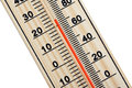 Wooden thermometer Royalty Free Stock Photo