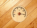 The wooden thermometer Royalty Free Stock Photo