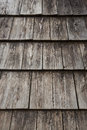 Wooden tile texture roof covered by Royalty Free Stock Photo