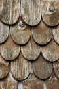 Wooden tiles on the roof of house a Royalty Free Stock Images