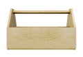 Wooden tool box front on a white background. 3d rendering