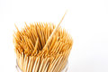 Wooden toothpicks Stock Photography