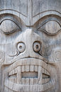 Wooden totem Royalty Free Stock Photo