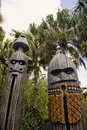 Wooden Totems Stock Images