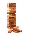 Wooden toy block for the brain development of children. Royalty Free Stock Photo