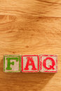 Wooden Toy Blocks Spell FAQ Royalty Free Stock Photo