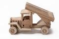 Wooden toy car models.