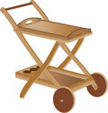 Wooden toy cart Royalty Free Stock Image