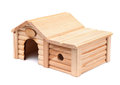 Wooden toy house Royalty Free Stock Photo