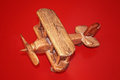 Wooden Toy Plane Royalty Free Stock Photo