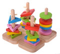Wooden toy puzzle colorful blocks Royalty Free Stock Photo