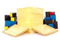 Wooden toys for children on white background Royalty Free Stock Photo