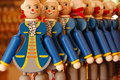 Wooden toys Mozart - souvenir Stock Photos