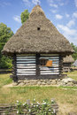 Wooden traditional romanian house Royalty Free Stock Photo
