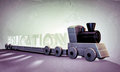 Wooden train old grunge photo Royalty Free Stock Image