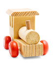 Wooden train toy Royalty Free Stock Photo