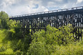 Wooden Train Trestle Royalty Free Stock Photo
