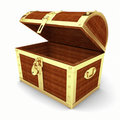Wooden treasure chest Royalty Free Stock Images