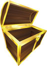 Wooden treasure pirate chest Stock Images