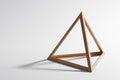 Wooden triangular frame