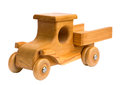 Wooden truck arriving Royalty Free Stock Photo