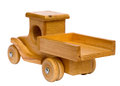 Wooden truck departing Royalty Free Stock Photo