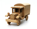 Wooden truck toy Royalty Free Stock Photo