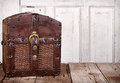 Wooden trunk or chest Royalty Free Stock Photo