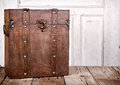Wooden trunk or chest Stock Photo