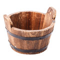 Wooden vat isolated on white background Royalty Free Stock Photography