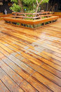 Wooden veranda Royalty Free Stock Images