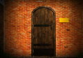 Wooden vintage door Royalty Free Stock Photos