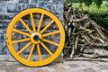 Wooden Wagon Wheel Royalty Free Stock Photo