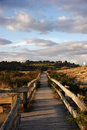 Wooden walkway from the beach Royalty Free Stock Photo