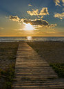 Wooden walkway Royalty Free Stock Photo