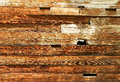 Wooden wall background horizontal planks Royalty Free Stock Image
